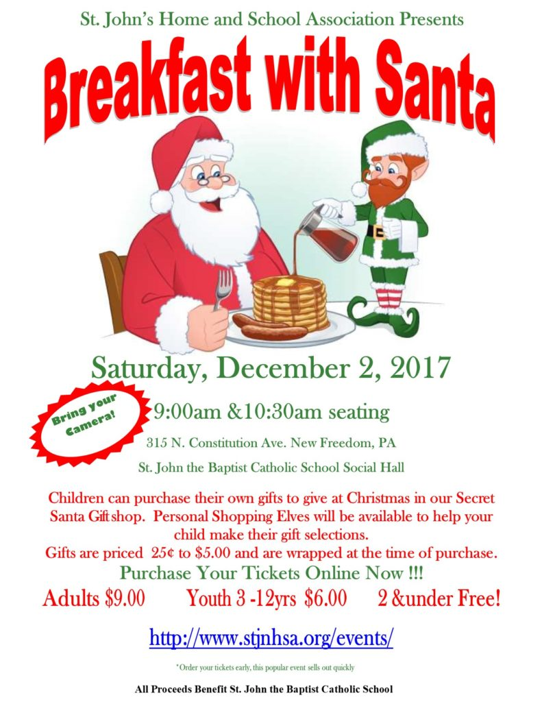 HSA Breakfast with Santa @ Sylvan Capitani Social Hall | New Freedom | Pennsylvania | United States