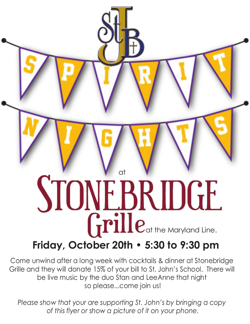Spirit Night at Stonebridge Grille @ Stonebridge Grille | Parkton | Maryland | United States